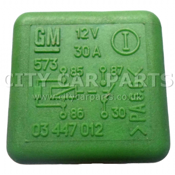 SAAB / VAUXHALL / OPEL MODELS FROM 1990 TO 2005 FUEL PUMP GREEN RELAY 03447012 12V 30A